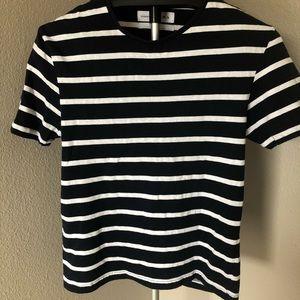 Zara essentials striped t shirt
